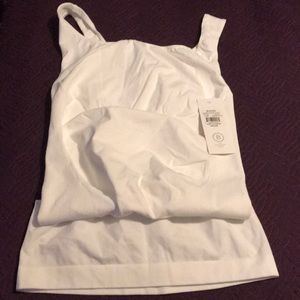 Blanqi Maternity Belly Support Tank White Sz XL